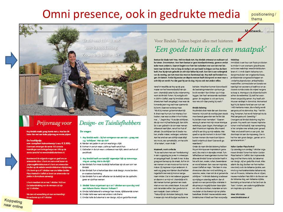 Omni presence, ook in gedrukte media