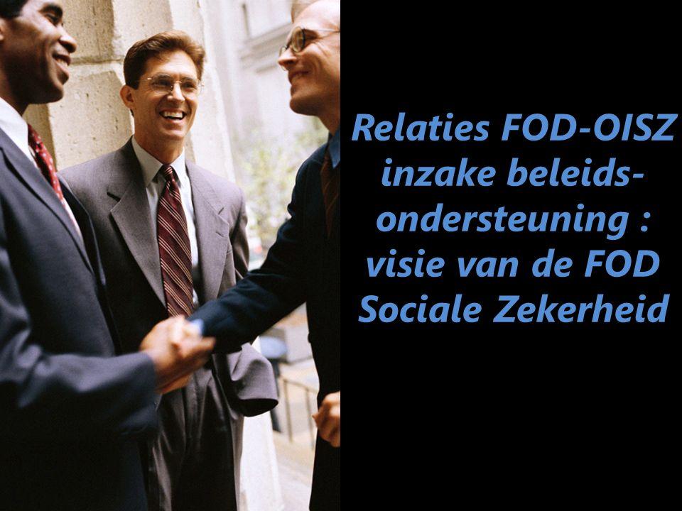 Relaties FOD-OISZ inzake beleids-ondersteuning : visie van de FOD Sociale Zekerheid