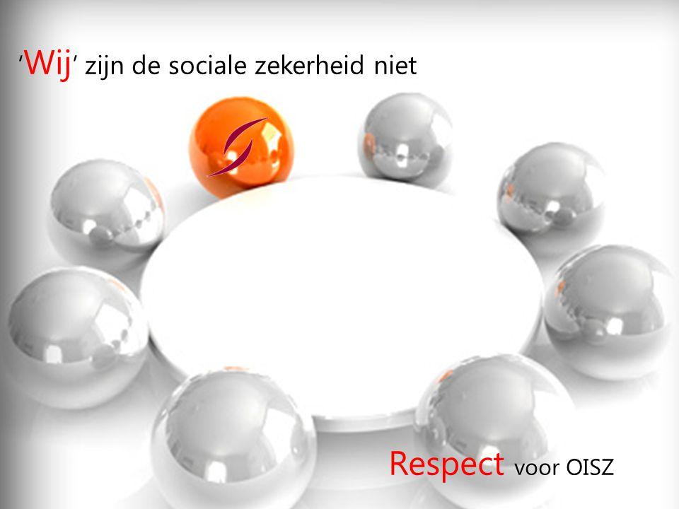 'Wij' zijn de sociale zekerheid niet
