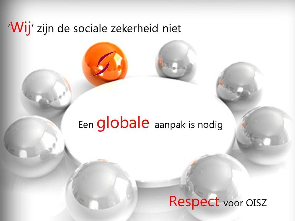 Respect voor OISZ 'Wij' zijn de sociale zekerheid niet
