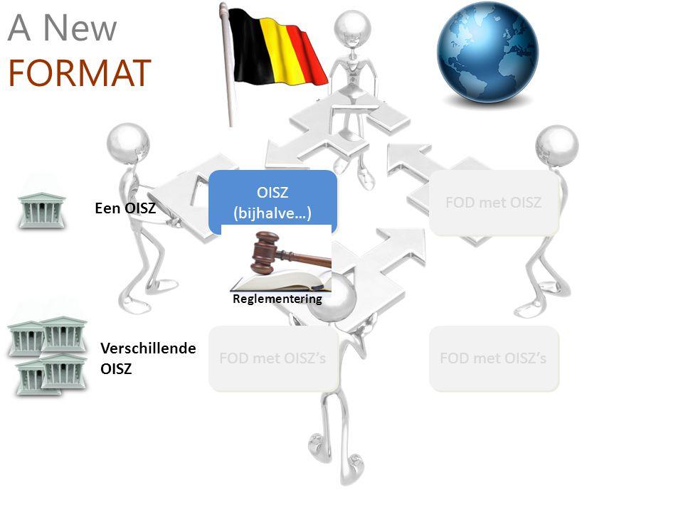 A New FORMAT OISZ (bijhalve…) FOD met OISZ Een OISZ Verschillende OISZ