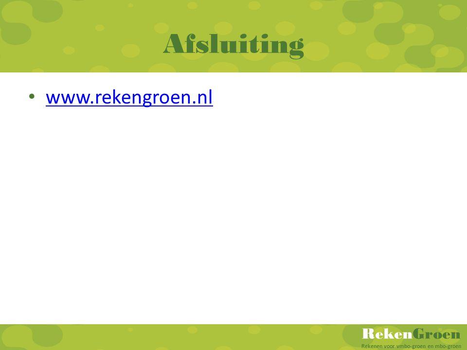 Afsluiting www.rekengroen.nl