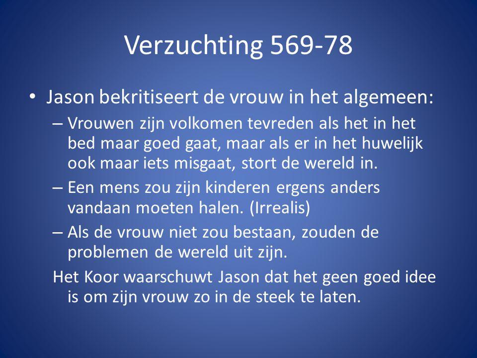 Verzuchting 569-78 Jason bekritiseert de vrouw in het algemeen: