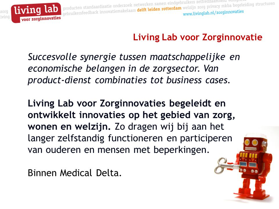 Living Lab voor Zorginnovatie
