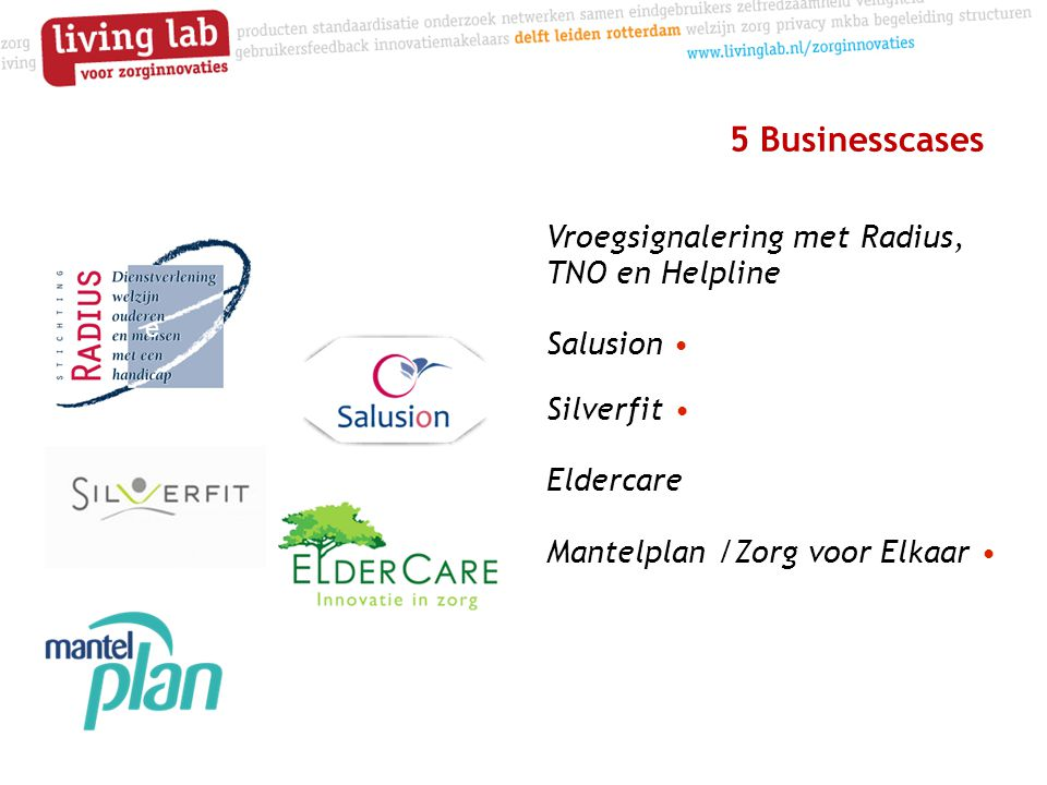 5 Businesscases Vroegsignalering met Radius, TNO en Helpline