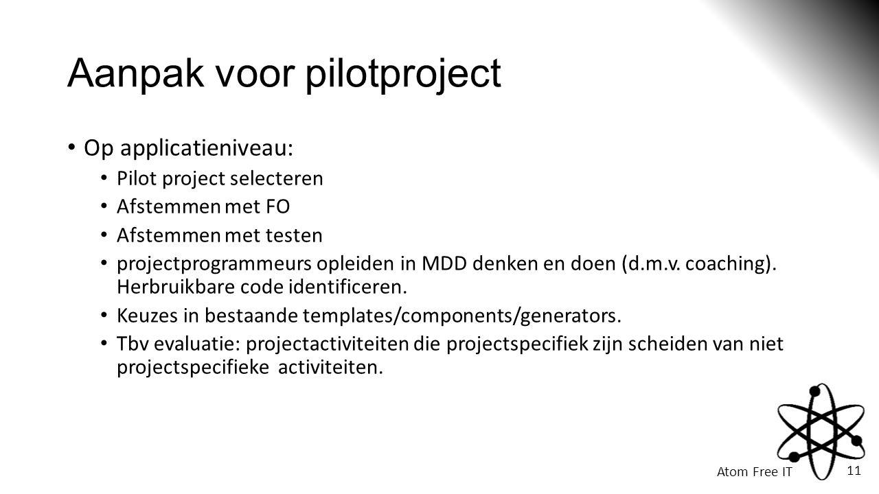 Aanpak voor pilotproject