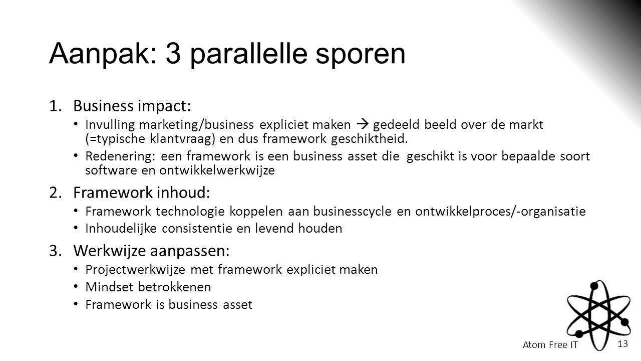 Aanpak: 3 parallelle sporen