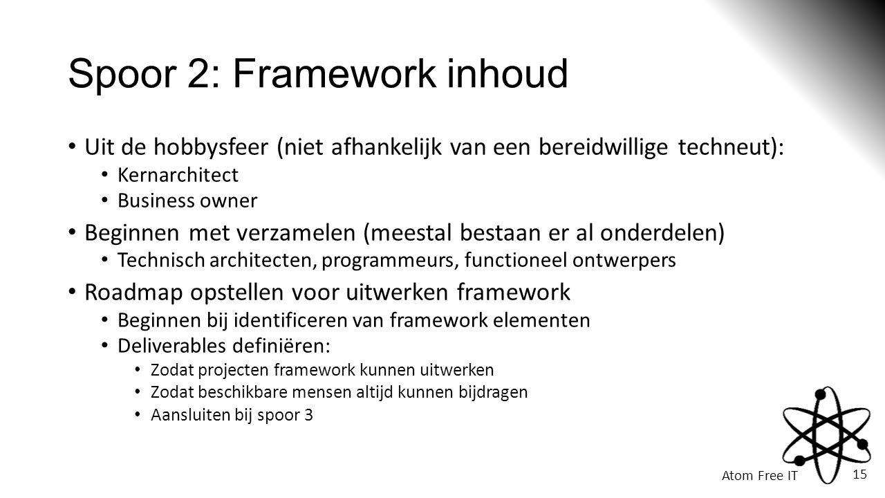 Spoor 2: Framework inhoud