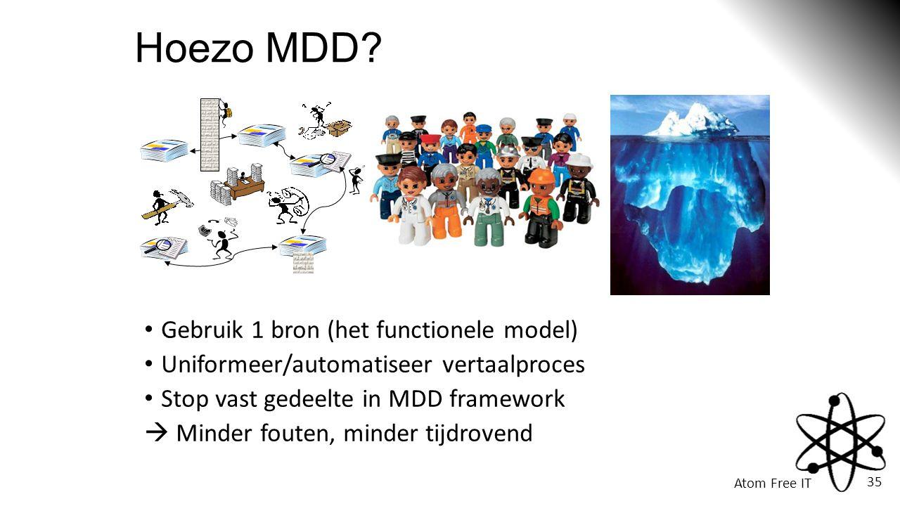 Hoezo MDD Gebruik 1 bron (het functionele model)