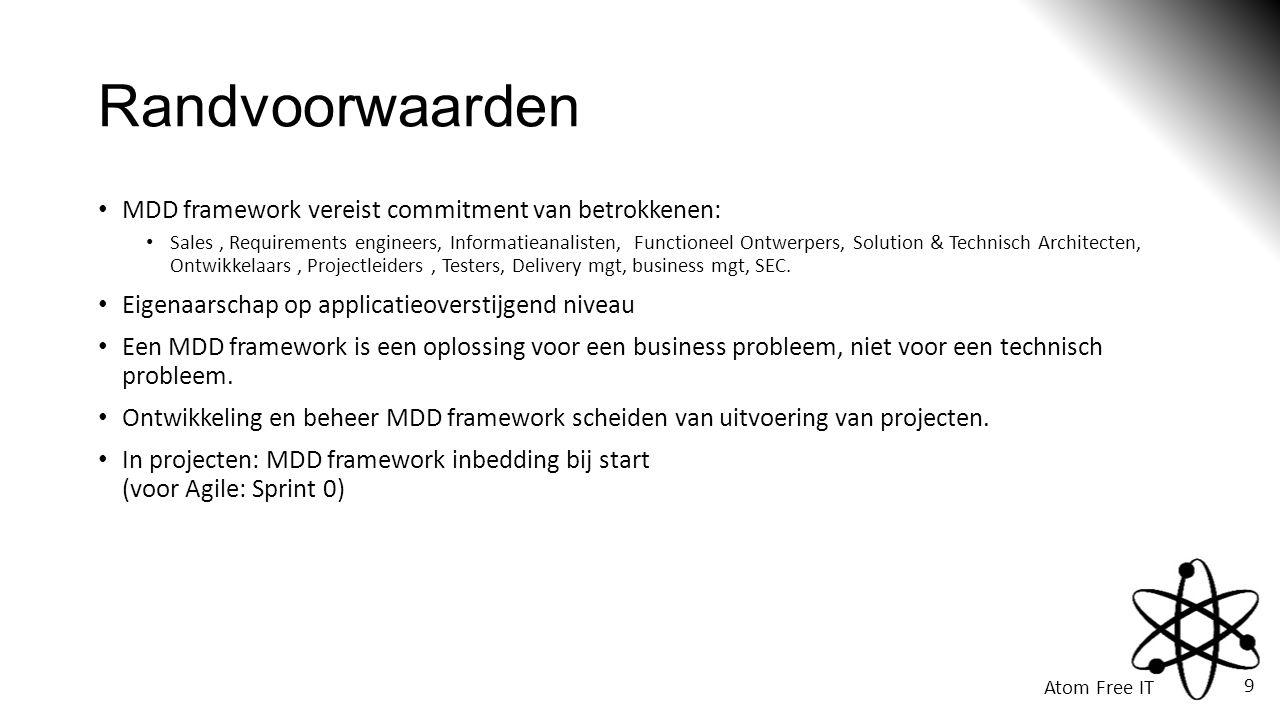 Randvoorwaarden MDD framework vereist commitment van betrokkenen: