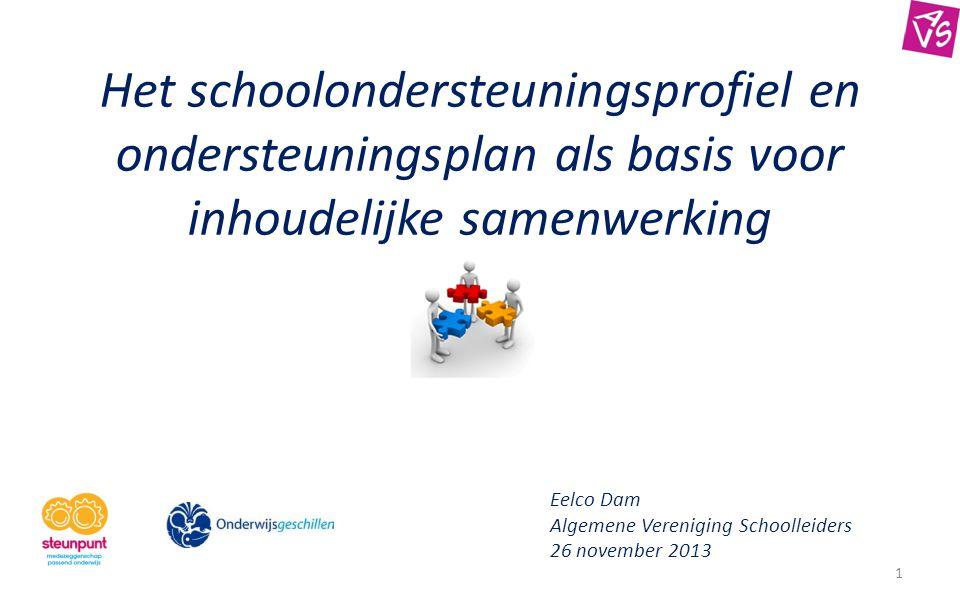 Het schoolondersteuningsprofiel en ondersteuningsplan als basis voor inhoudelijke samenwerking
