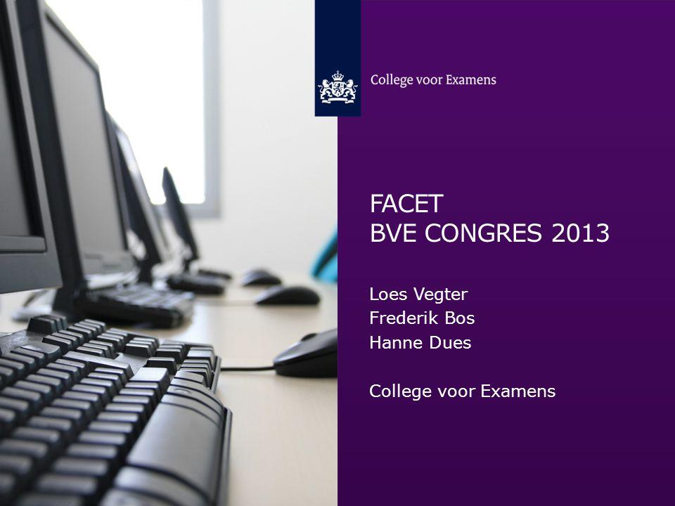 FaCET bve CONGRES 2013 Loes Vegter Frederik Bos Hanne Dues