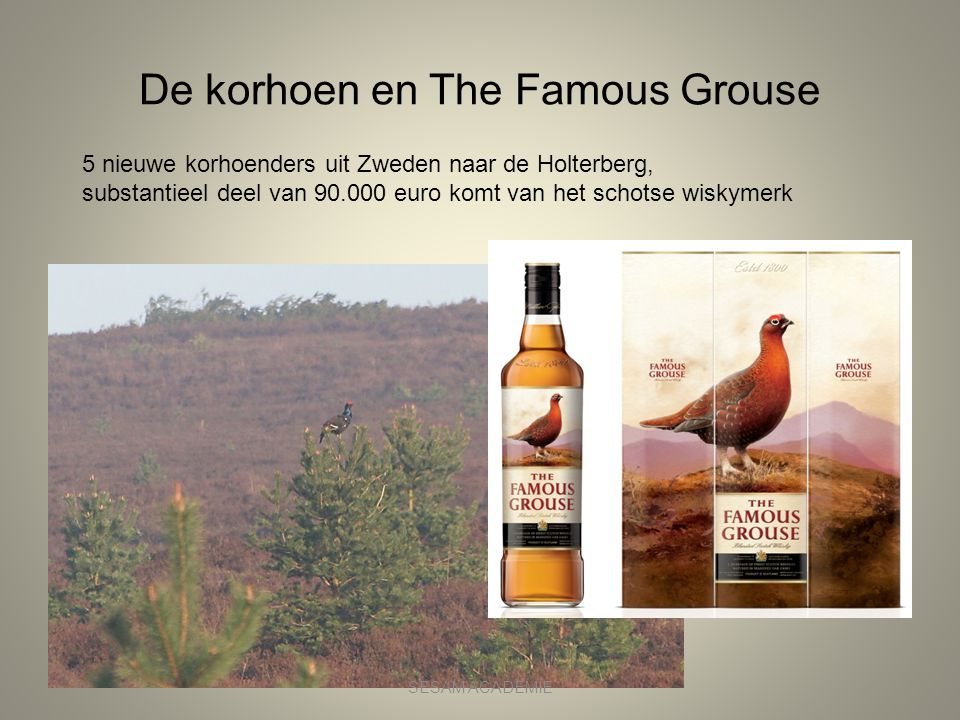 De korhoen en The Famous Grouse