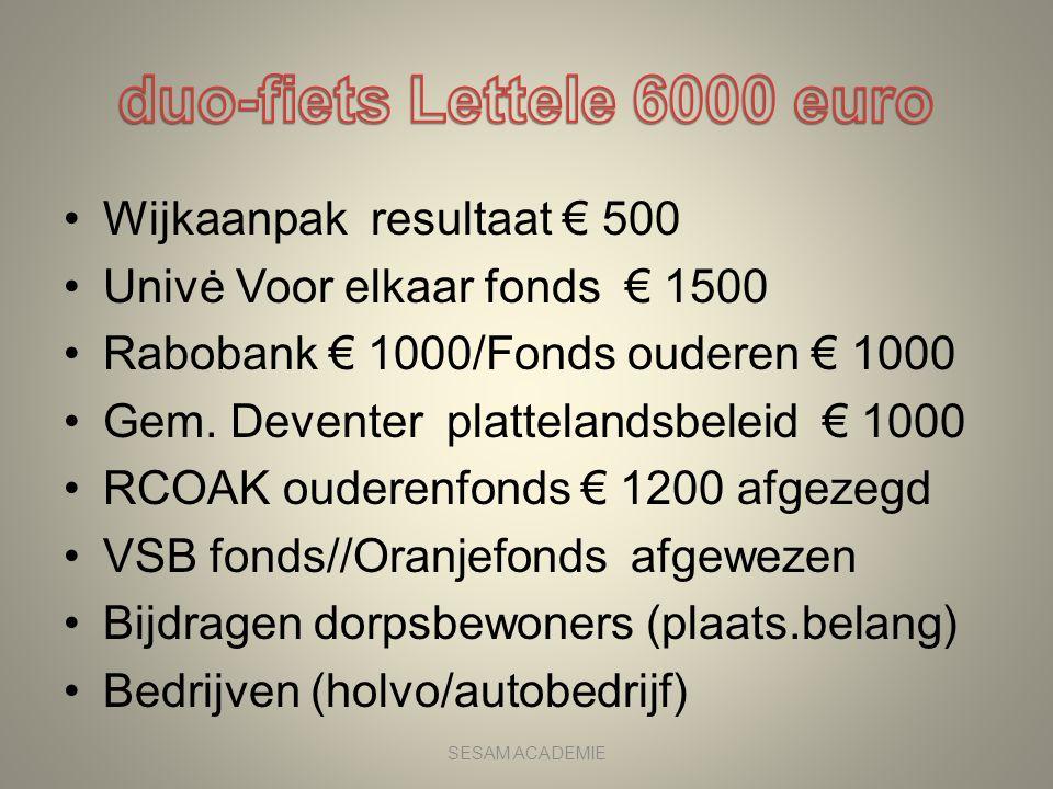 duo-fiets Lettele 6000 euro