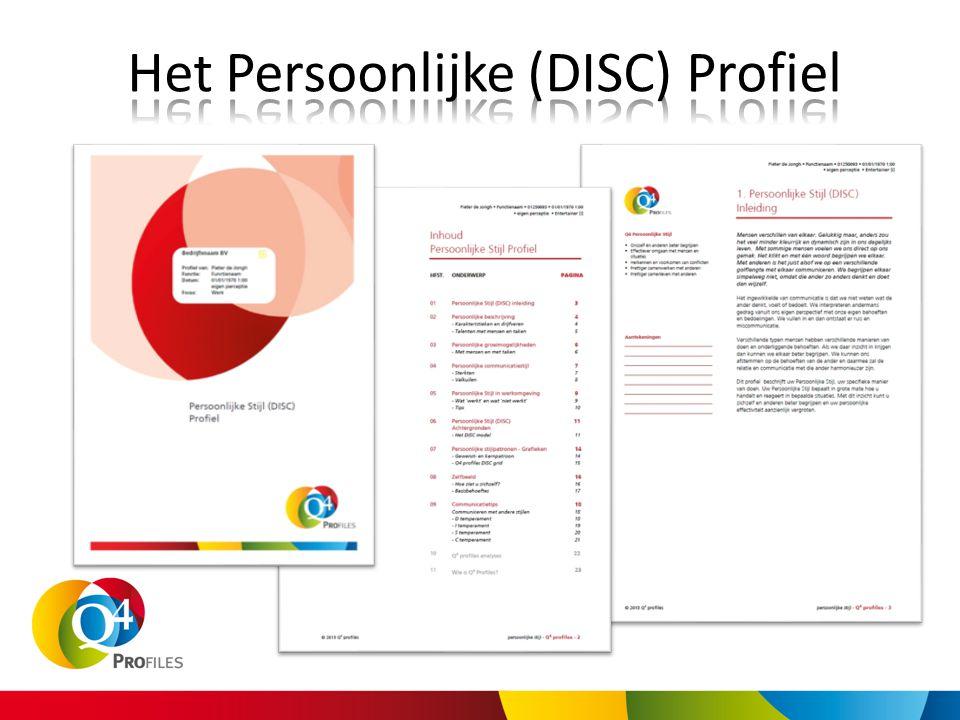 Het Persoonlijke (DISC) Profiel