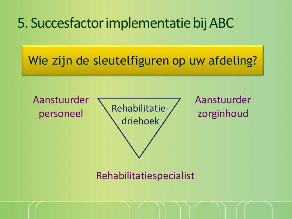 5. Succesfactor implementatie bij ABC