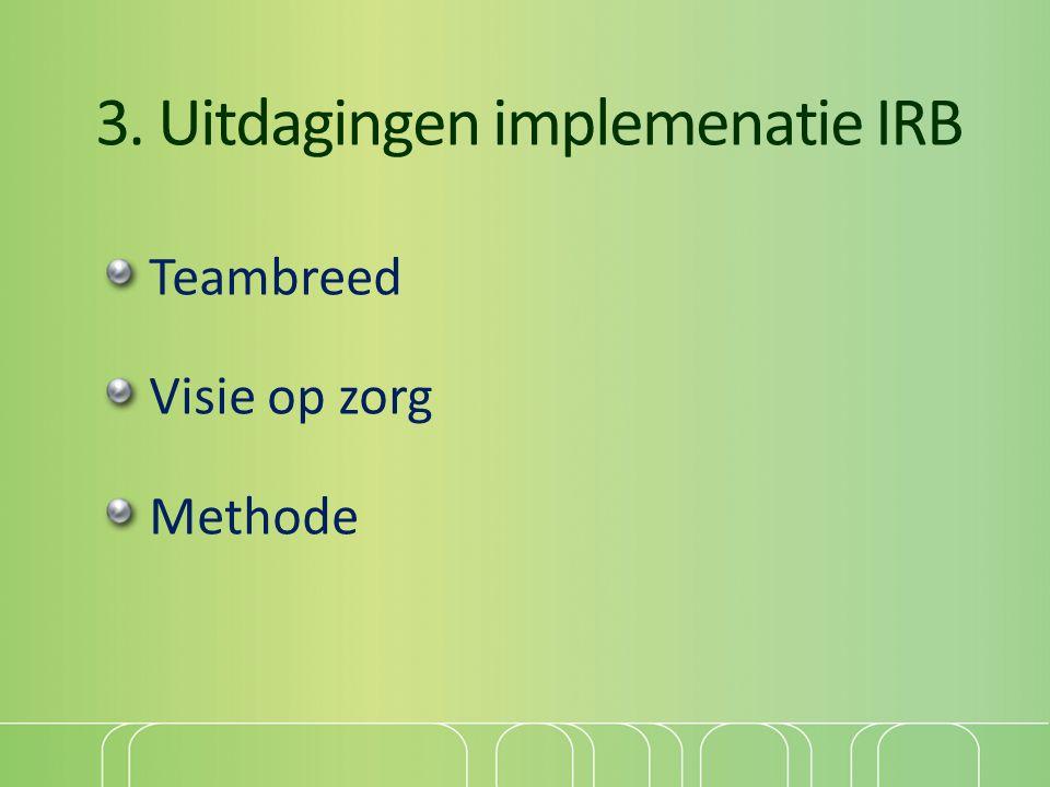 3. Uitdagingen implemenatie IRB