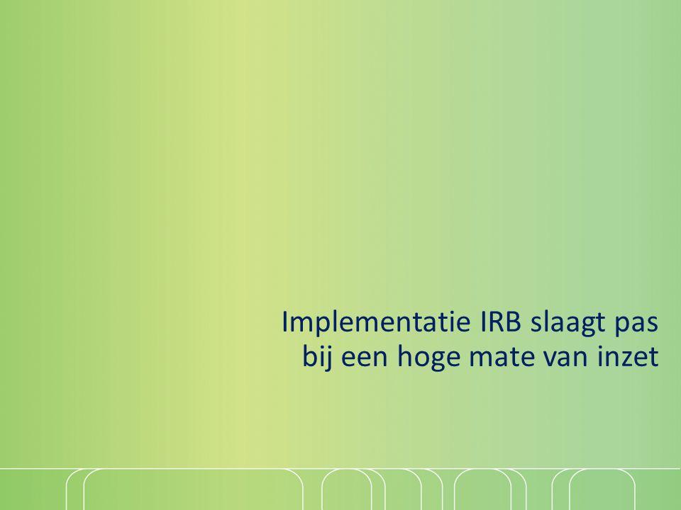 Implementatie IRB slaagt pas