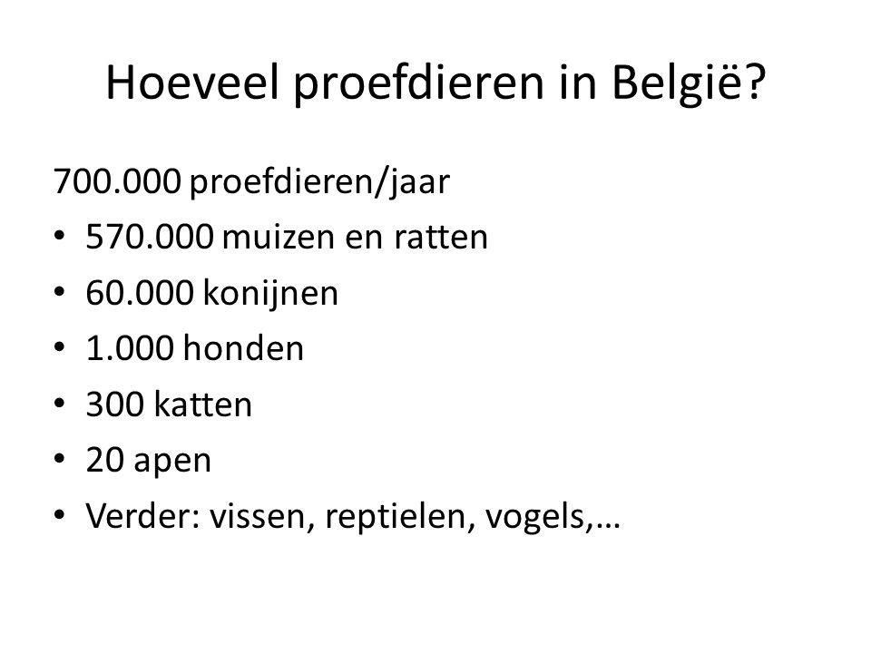 Hoeveel proefdieren in België