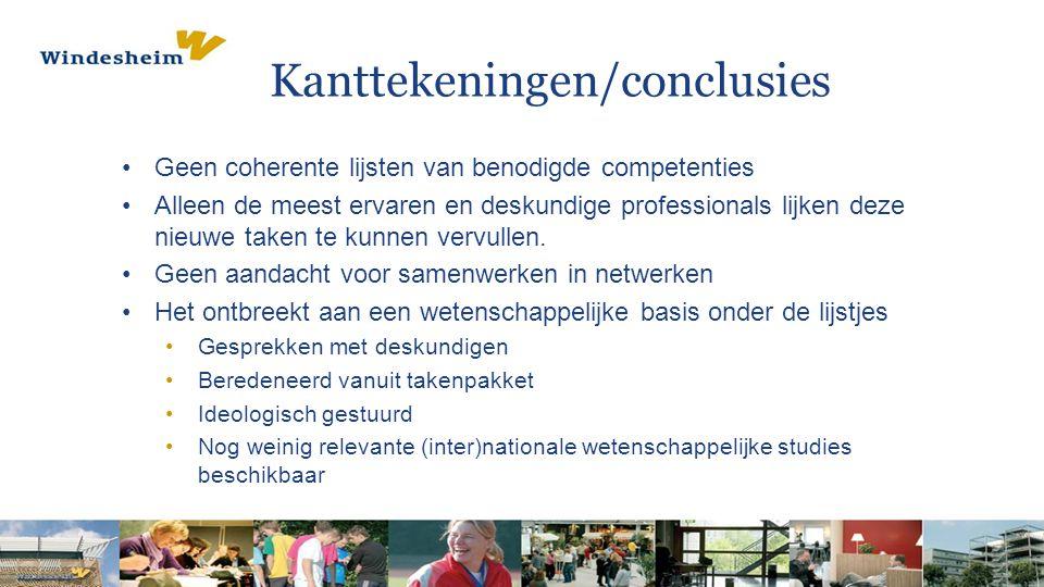Kanttekeningen/conclusies