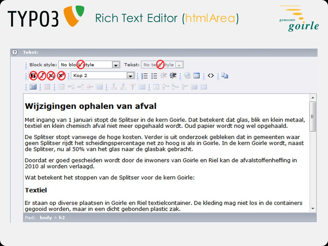 Rich Text Editor (htmlArea)