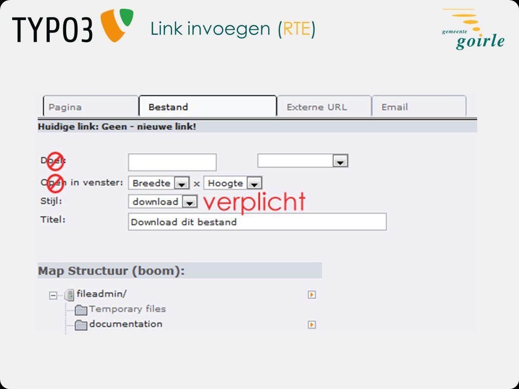 Link invoegen (RTE)