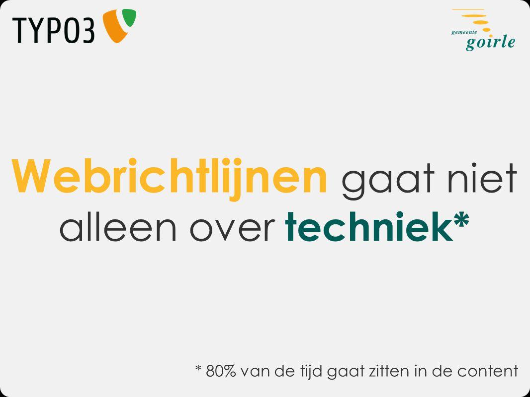 Webrichtlijnen gaat niet alleen over techniek*