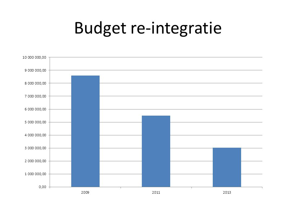 Budget re-integratie