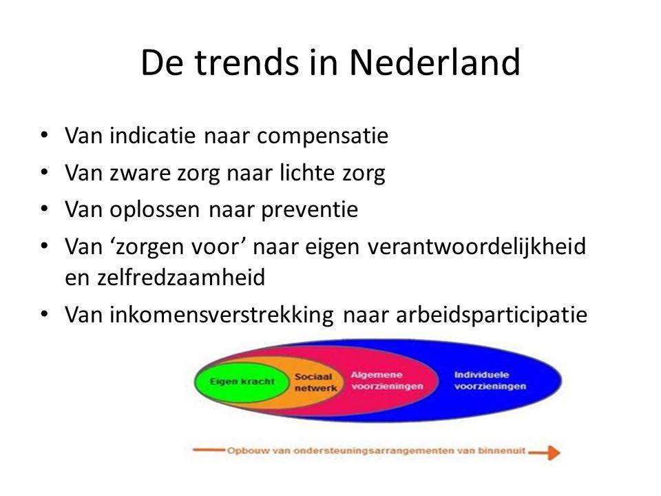 De trends in Nederland Van indicatie naar compensatie