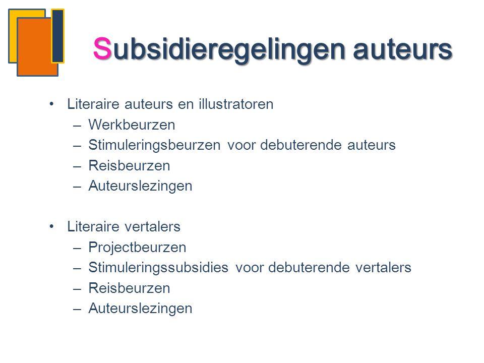 Subsidieregelingen auteurs