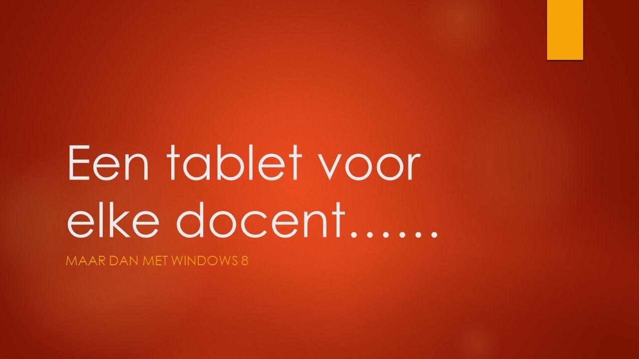 Een tablet voor elke docent……