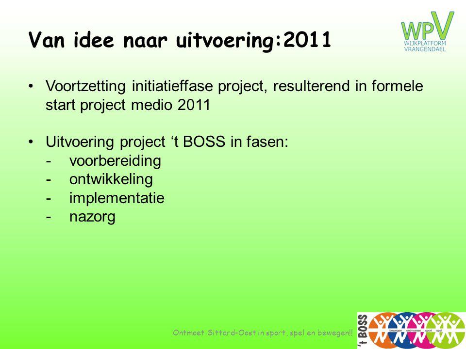 Van idee naar uitvoering:2011