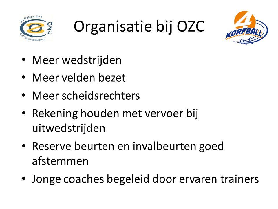 Organisatie bij OZC Meer wedstrijden Meer velden bezet