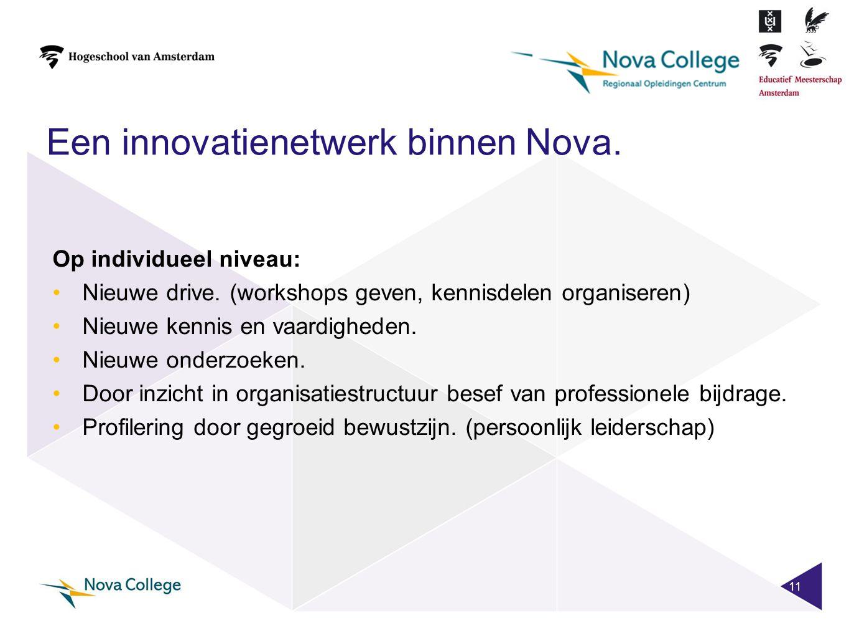 Een innovatienetwerk binnen Nova.