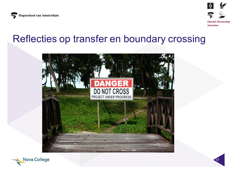 Reflecties op transfer en boundary crossing