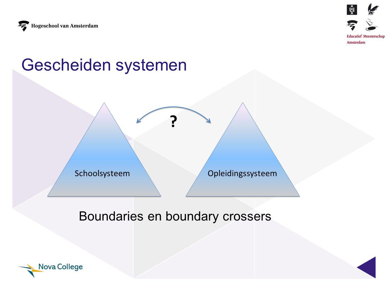 Gescheiden systemen Boundaries en boundary crossers Schoolsysteem