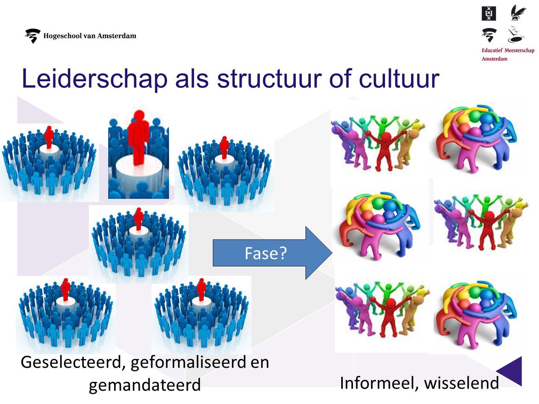 Leiderschap als structuur of cultuur
