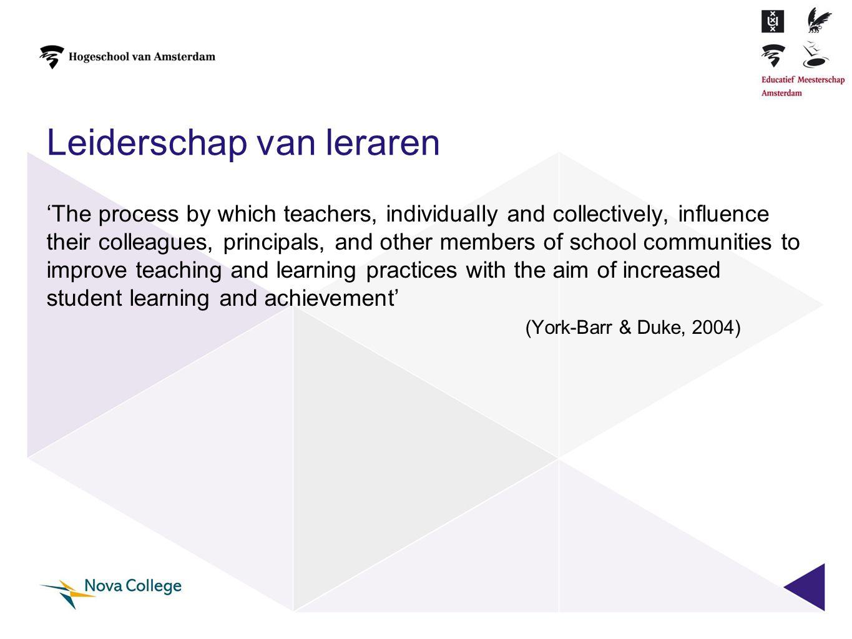 Leiderschap van leraren