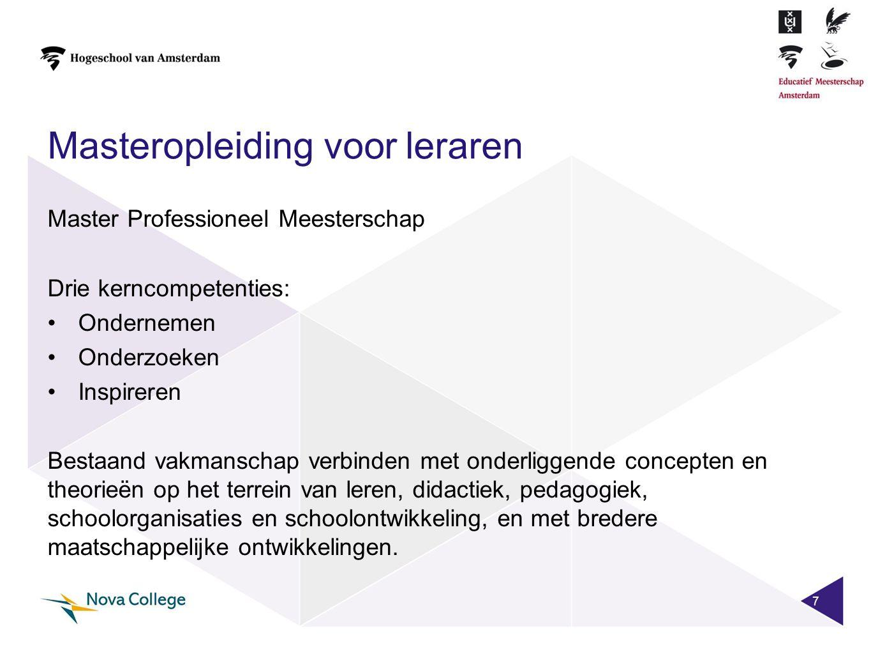 Masteropleiding voor leraren