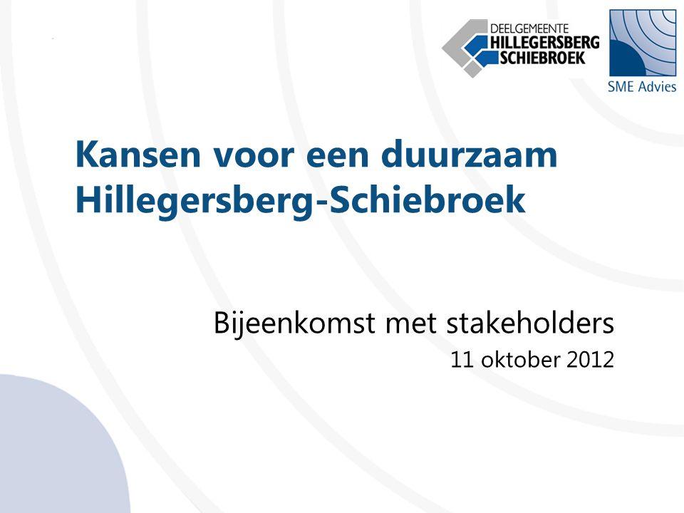 Kansen voor een duurzaam Hillegersberg-Schiebroek