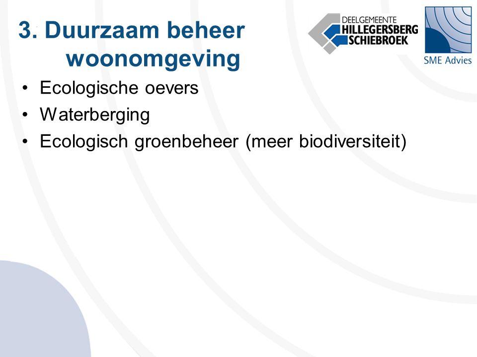 3. Duurzaam beheer woonomgeving