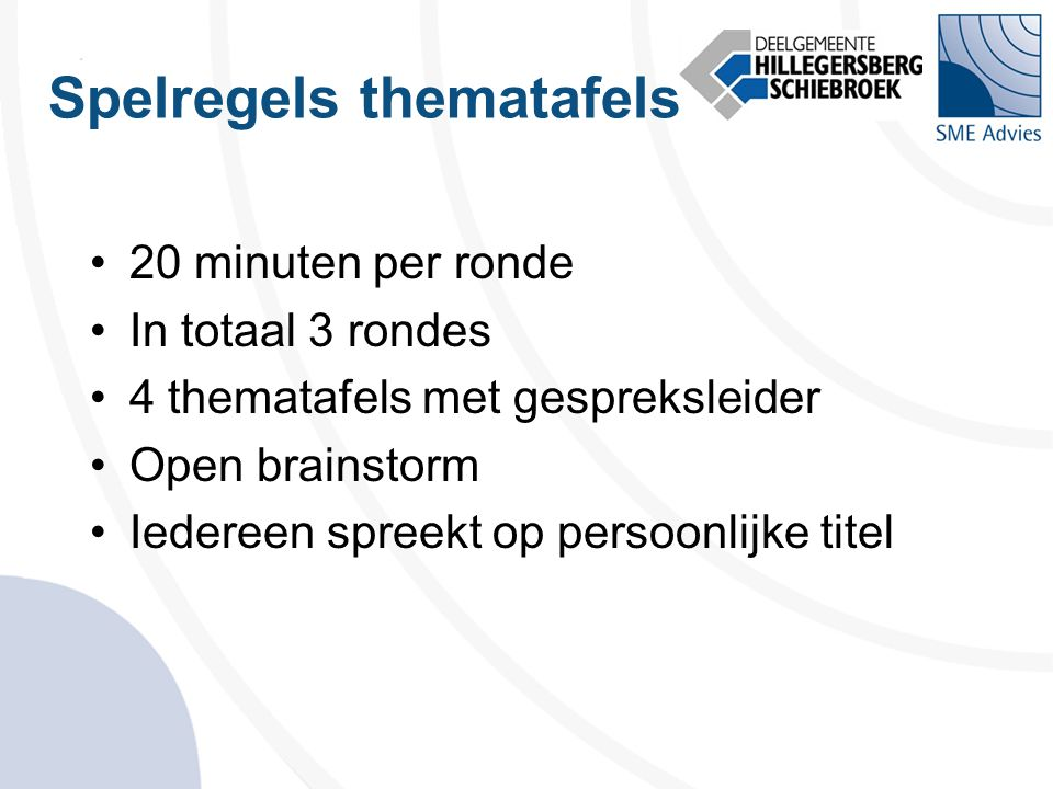 Spelregels thematafels