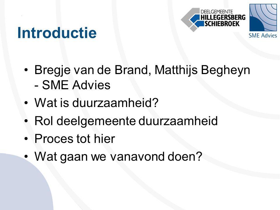 Introductie Bregje van de Brand, Matthijs Begheyn - SME Advies
