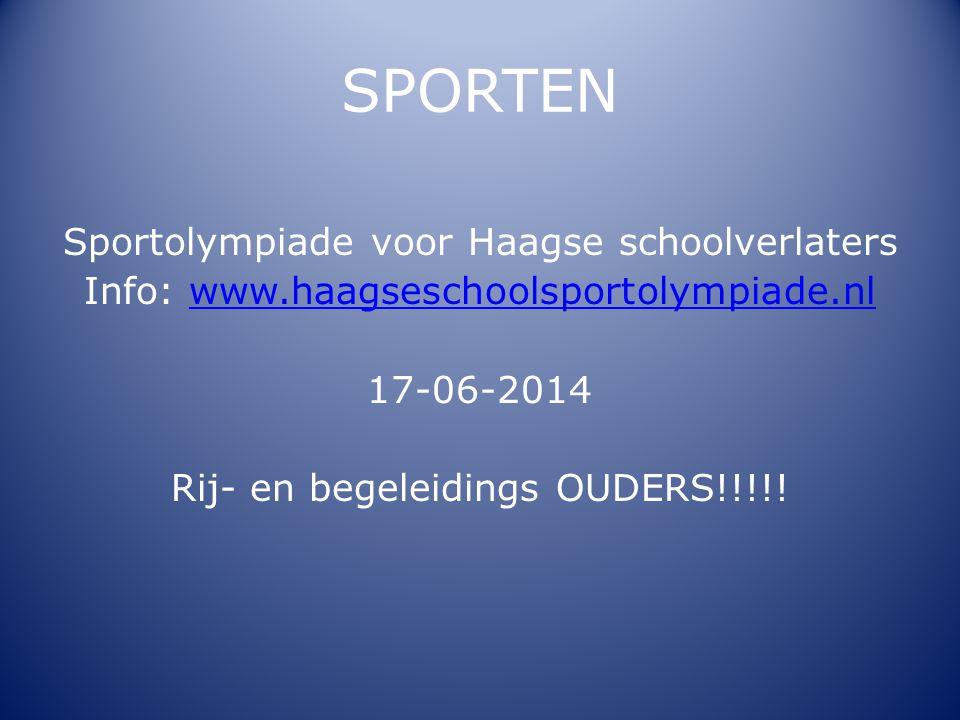 SPORTEN Sportolympiade voor Haagse schoolverlaters