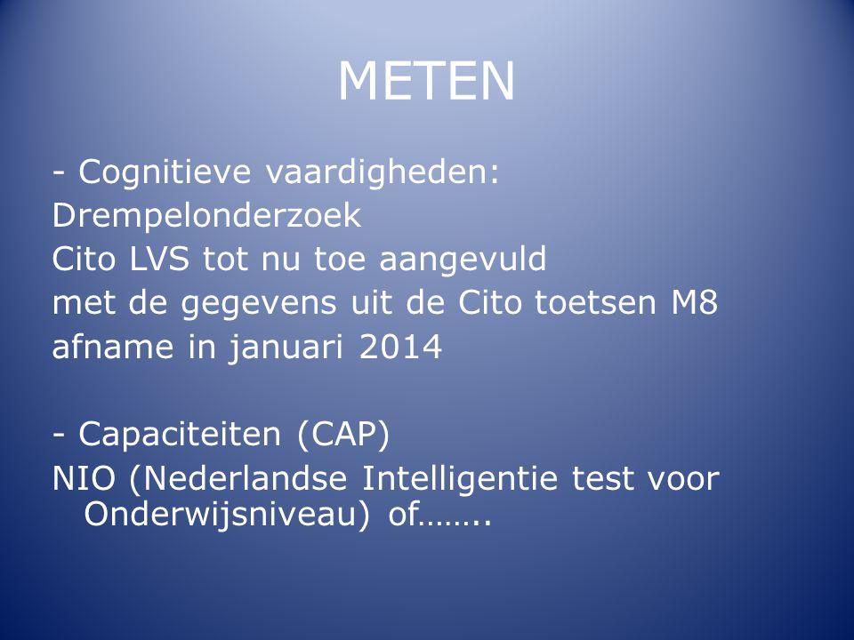 METEN - Cognitieve vaardigheden: Drempelonderzoek
