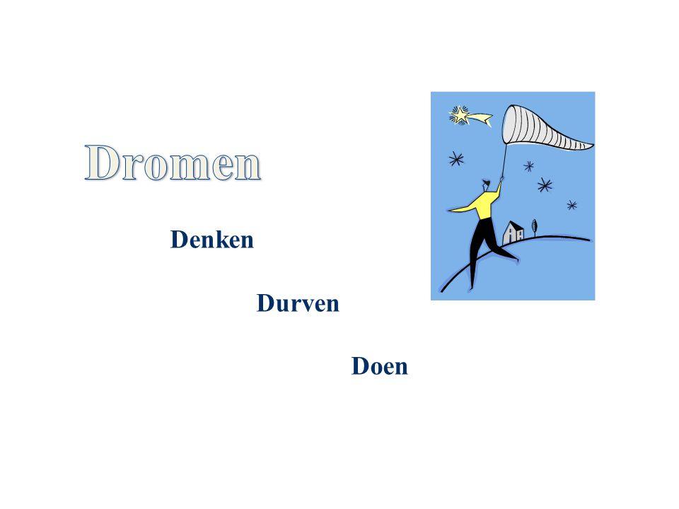 Dromen Denken Durven Doen Met deze dia begint het middag programma.