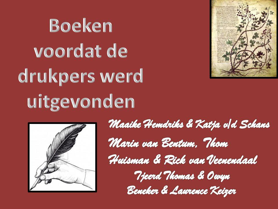Boeken voordat de drukpers werd uitgevonden