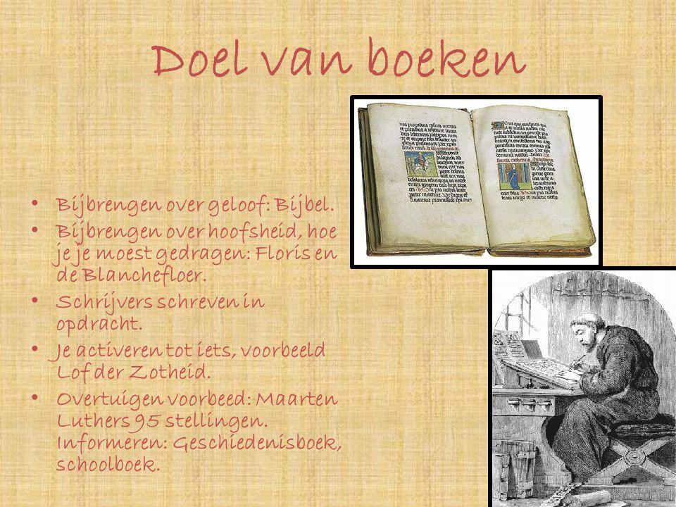 Doel van boeken Bijbrengen over geloof: Bijbel.