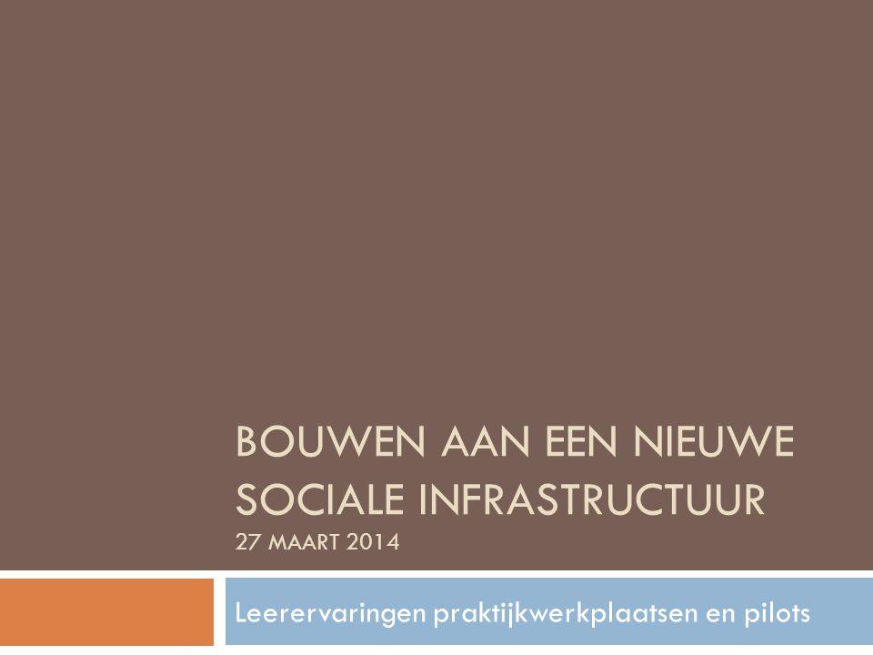 Bouwen aan een nieuwe sociale infrastructuur 27 maart 2014