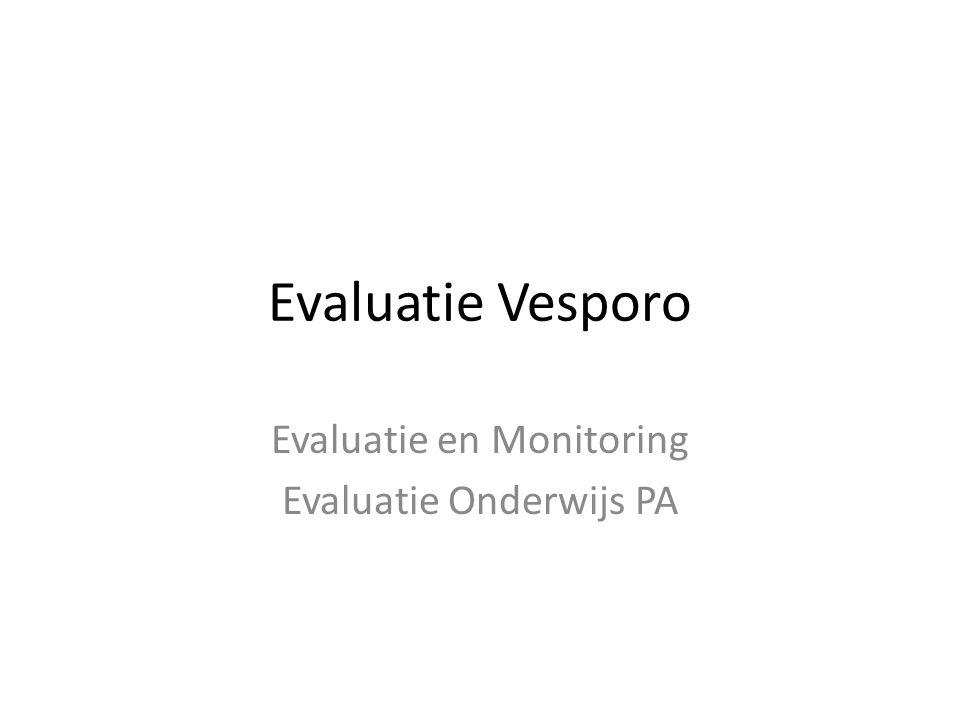 Evaluatie en Monitoring Evaluatie Onderwijs PA